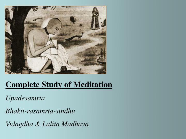 Complete Study of Meditation