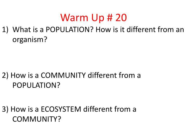 Warm Up # 20