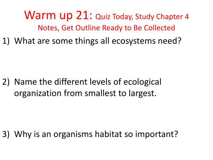 Warm up 21: