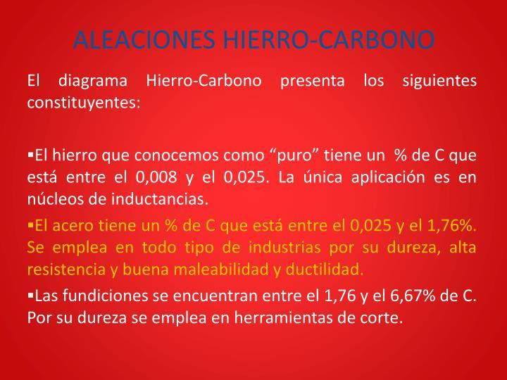 Aleaciones hierro carbono