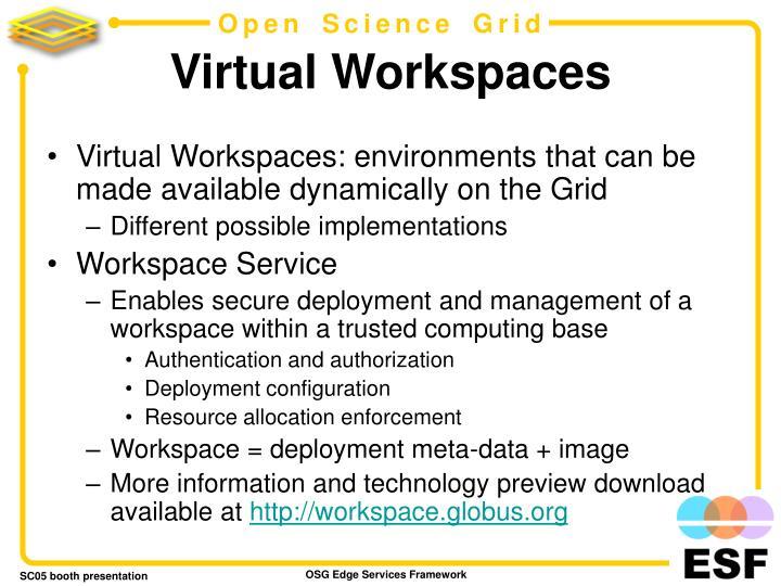 Virtual Workspaces