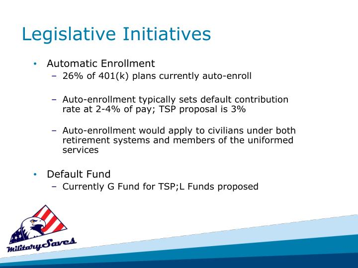 Legislative Initiatives