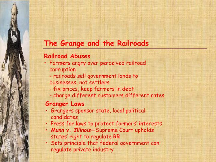 The Grange and the Railroads