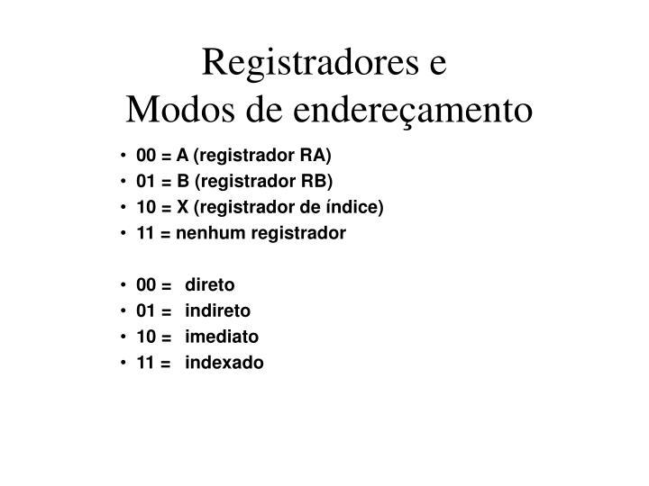 Registradores e