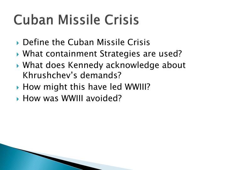 cuban missile crisis containment