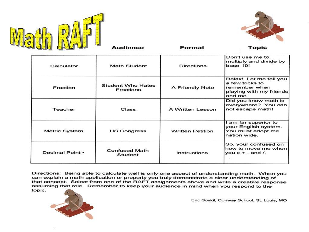 Ppt Math Raft Powerpoint Presentation Free Download Id 3141332 [ 768 x 1024 Pixel ]