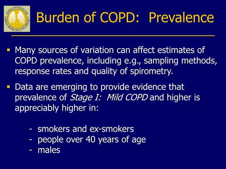 Burden of COPD:  Prevalence