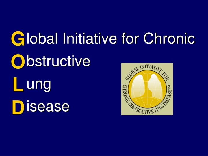 lobal Initiative for Chronic