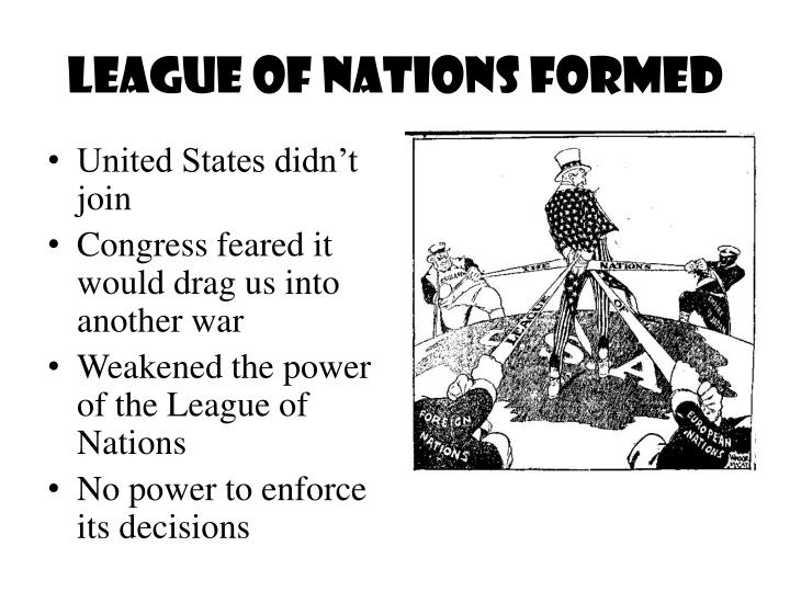 PPT - League of Nations Formed PowerPoint Presentation, free download -  ID:3141523