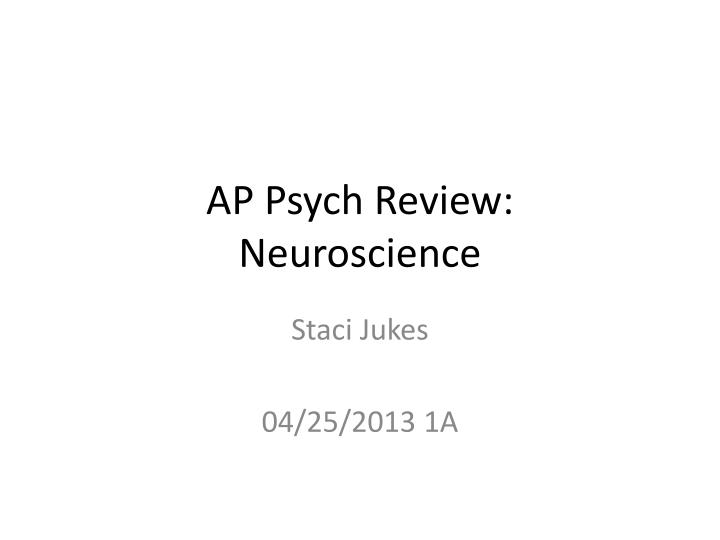 Ap psych review neuroscience