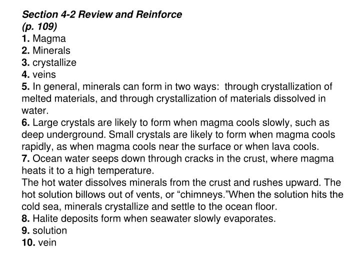 Section 4-2 Review and Reinforce
