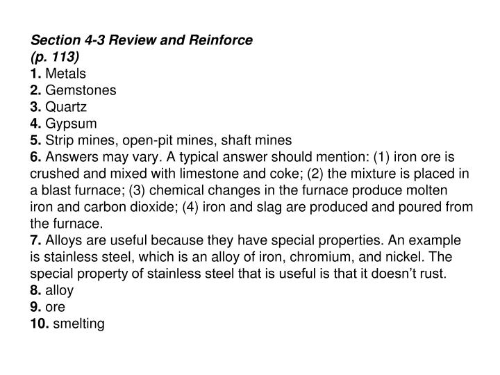 Section 4-3 Review and Reinforce
