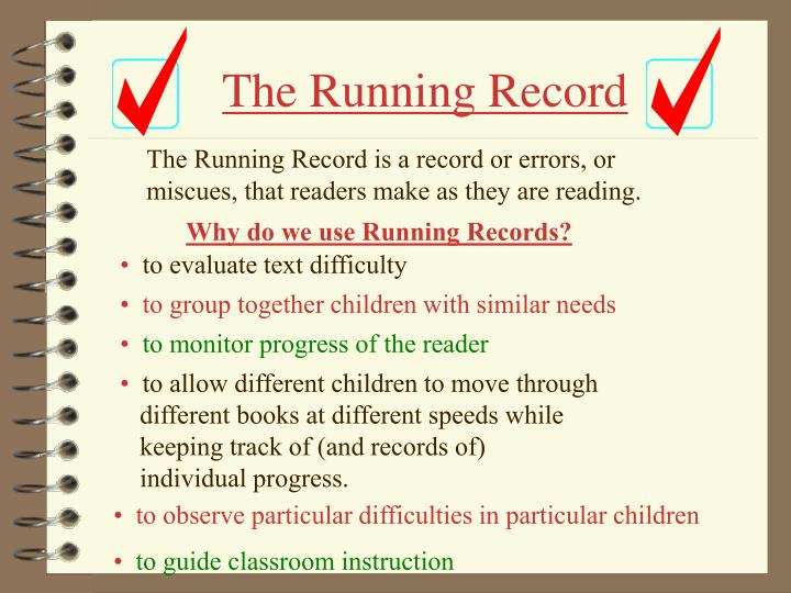 the running record n.