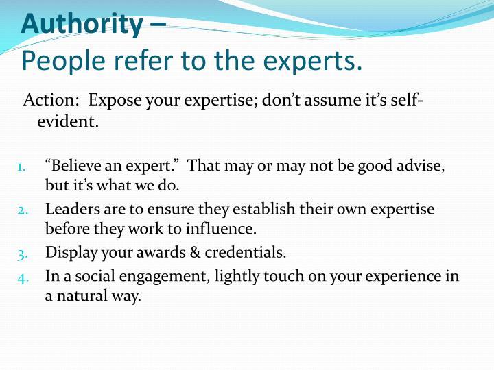 Authority –