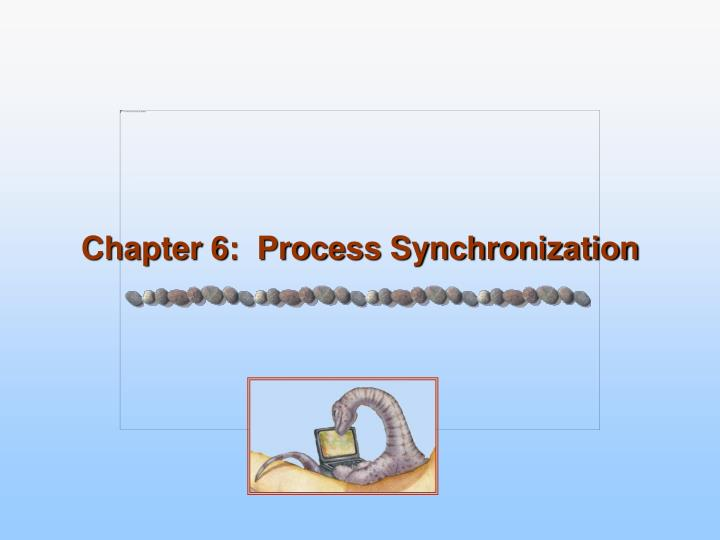 chapter 6 process synchronization n.
