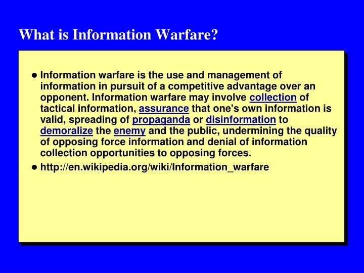 What is Information Warfare?
