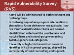 rapid vulnerability survey rvs