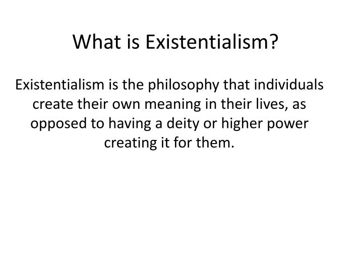 short essay on existentialism Existentialism: a very short introduction examines one of the leading philosophical movements of the twentieth century focusing on its seven leading figures: sartre, nietzsche, heidegger, kierkegaard, de beauvoir, merleau–ponty, and camus, this vsi considers the key themes of the movement, which emphasized individuality, free will.