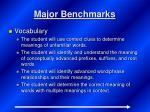 major benchmarks1