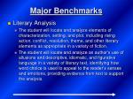 major benchmarks4
