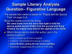 sample literary analysis question figurative language