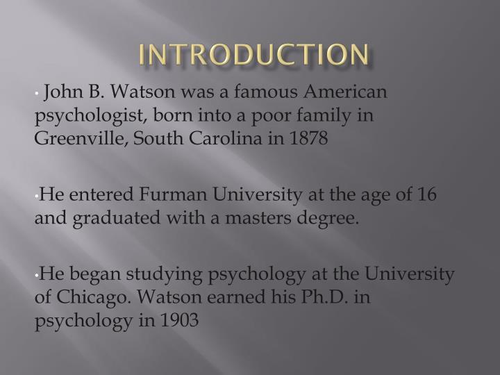 jb watson biography