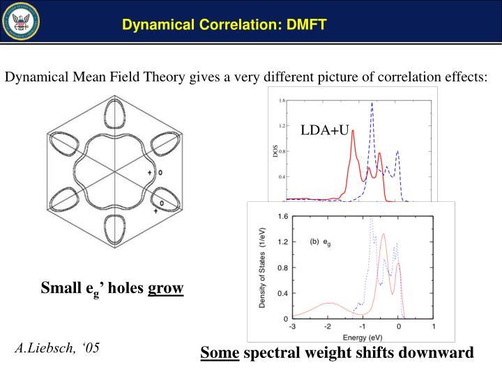 Dynamical Correlation: DMFT