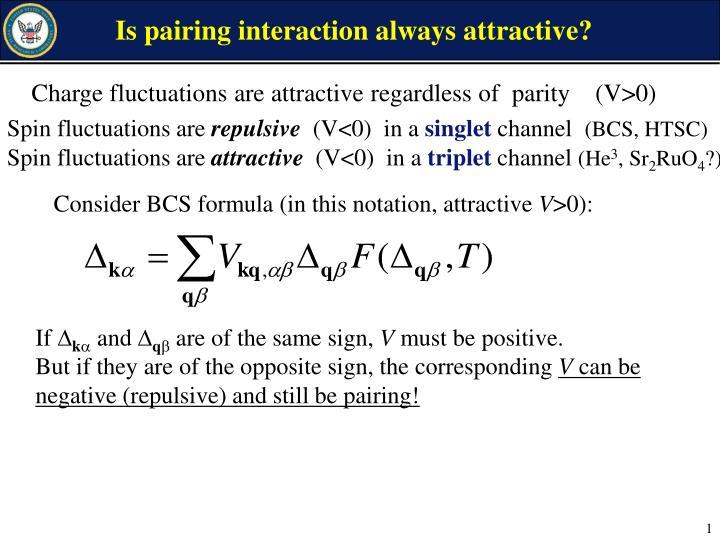 Is pairing interaction always attractive?