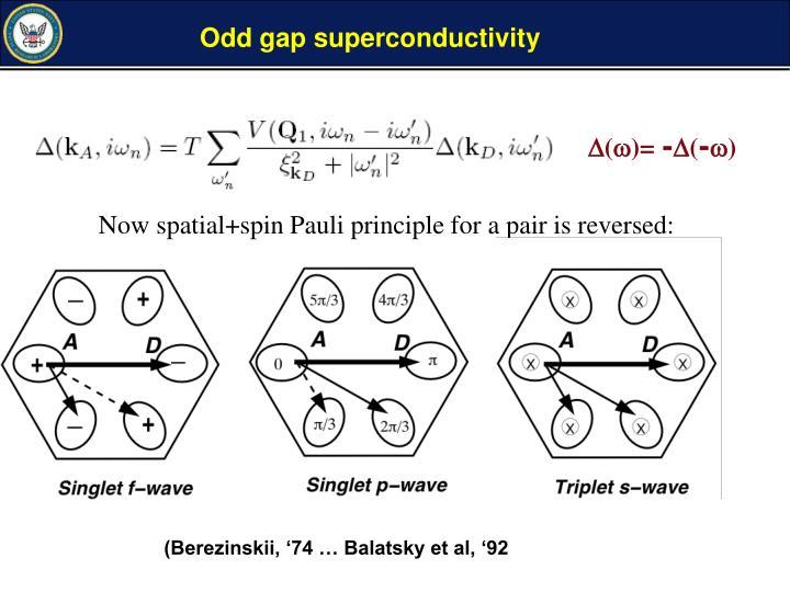 Odd gap superconductivity