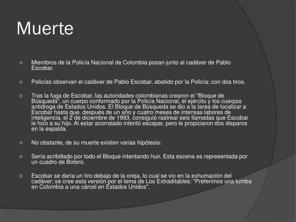 PPT - Pablo Emilio Escobar Gaviria PowerPoint Presentation