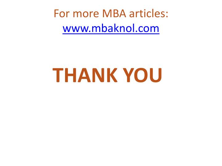 For more MBA articles: