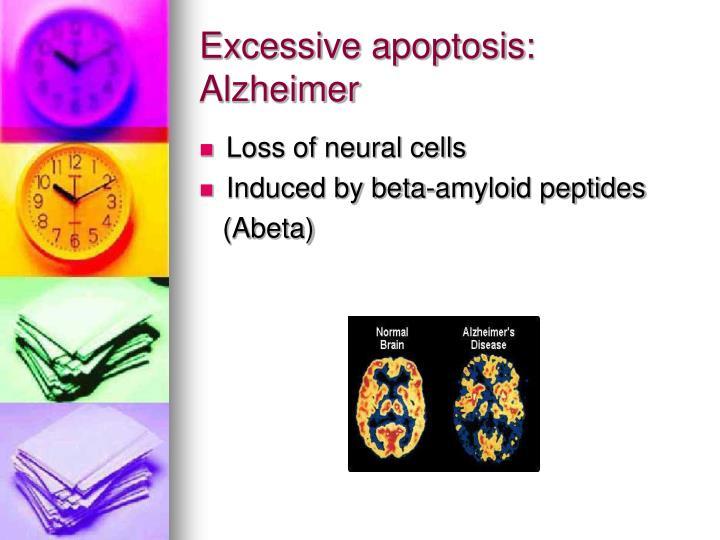 Excessive apoptosis: Alzheimer