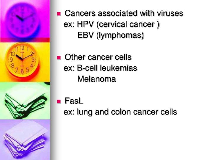 Cancers associated with viruses