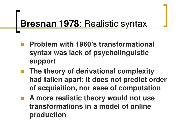 Bresnan 1978