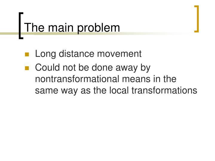 The main problem