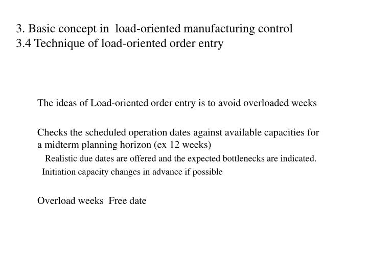 Jew Detector: Load-oriented Manufacturing Control Just-in-time