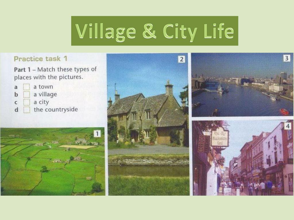 life of city and village