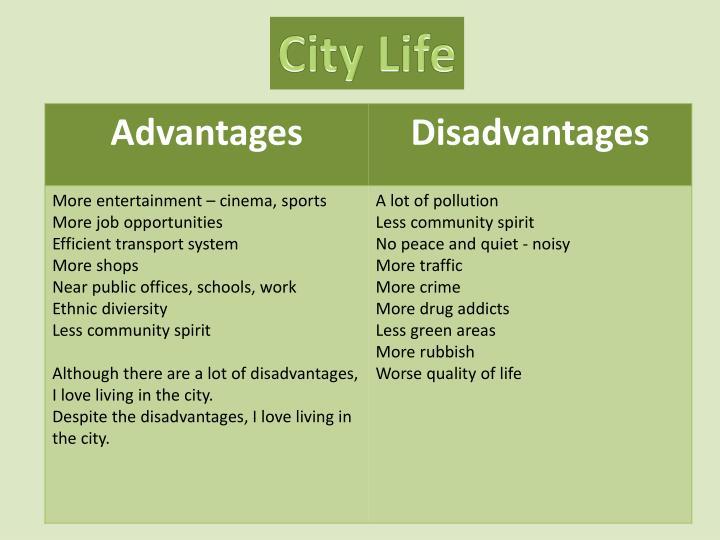 advantages and disadvantages of village life