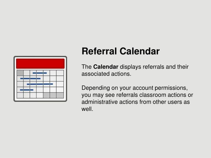 Referral Calendar