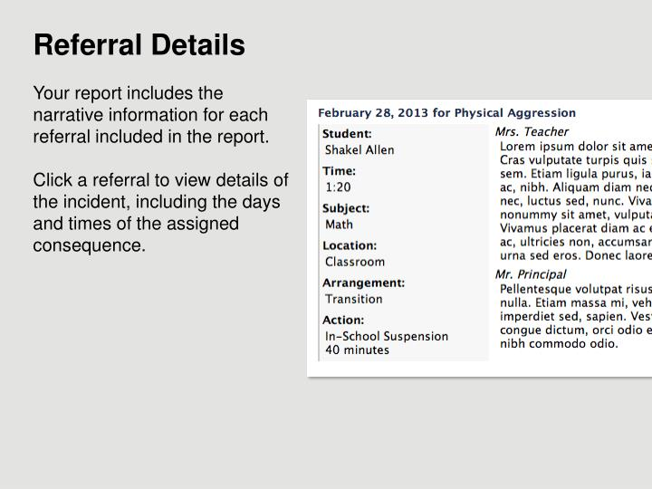 Referral Details