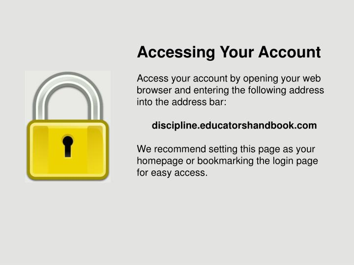Accessing Your Account