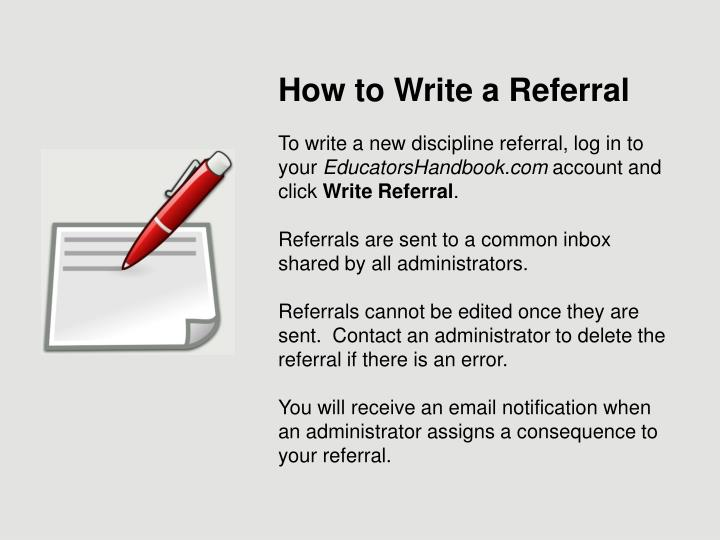 How to Write a Referral