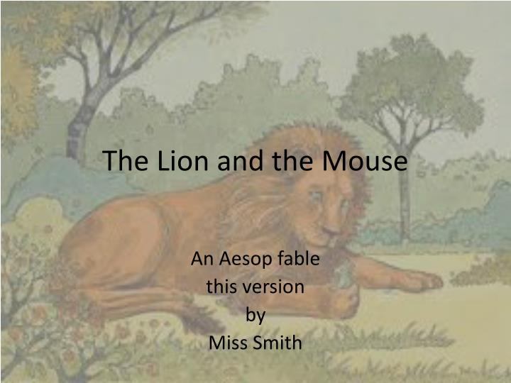 the lion and the mouse n.