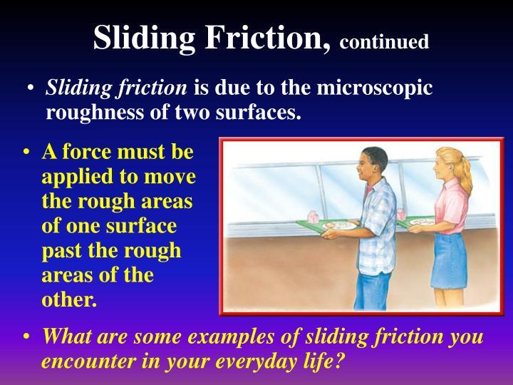 Sliding Friction,