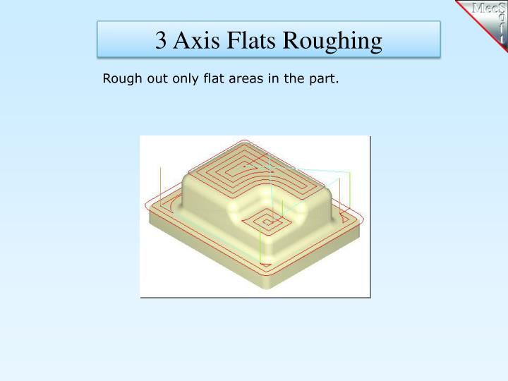 3 Axis Flats Roughing