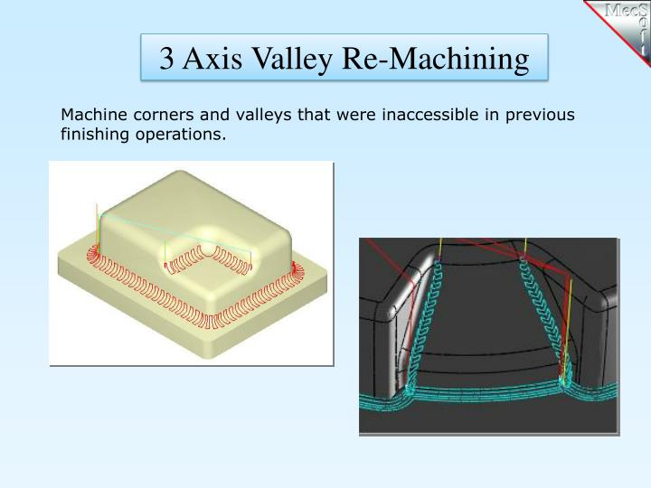 3 Axis Valley Re-Machining