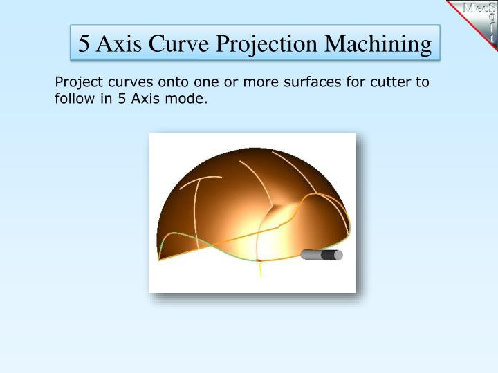 5 Axis Curve Projection Machining