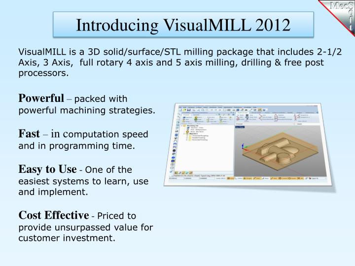 Introducing VisualMILL 2012