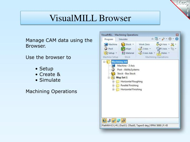 VisualMILL Browser
