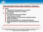 internet based census data collection ecensus